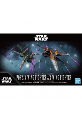 Bandai Star Wars Poe's X-Wing Fighter & X-Wing Fighter 1/144 scale Plastic Model Kit