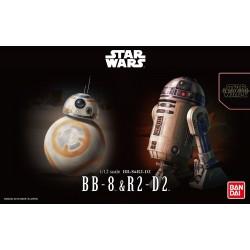 Bandai Star Wars BB-8 & R2-D2 1/12 Scale Plastic Model Kit