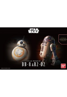 Bandai Star Wars BB-8 & R2-D2 1/12 Scale Plastic Model Kit