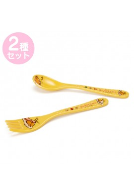 SANRIO Gudetama Melamine Spoon & Fork Set