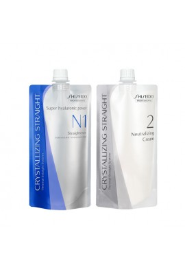 Shiseido Professional Crystallizing Hair Straightener N1 and 2 Cream Set