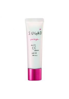 Azjatyckie kosmetyki Rohto Sugao Air Fit CC Cream Pink Bright SPF23 PA+++