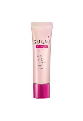 Azjatyckie kosmetyki Rohto Sugao Air Fit CC Cream Pink Bright Moist SPF23 PA+++