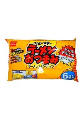 Baby Star Ramen HOT (Dried Ramen Snacks Chicken Flavors with Peanuts)