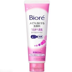 Biore Kao Makeup Remover Face Wash with Hyaluronic Acid, Royal Jelly 2in1