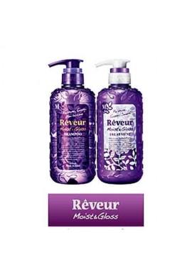 Azjatyckie kosmetyki Reveur Shampoo & Treatment Moist Gloss 2x500ml SET SET ZESTAW