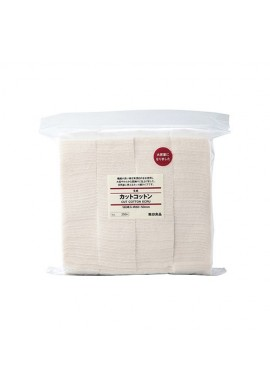 Azjatyckie akcesoria MUJI Unbleached Cut Cotton Pads /60x50mm/ 180 sheets