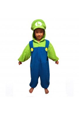 Japońskie stroje SAZAC Kigurumi for Kids Super Mario Brothers Luigi