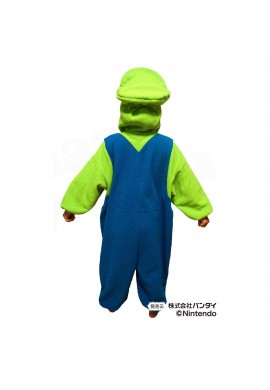 SAZAC Kigurumi for Kids Super Mario Brothers Luigi