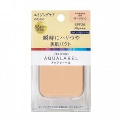 Azjatyckie kosmetyki Shiseido Aqualabel Bright Shiny Skin Pact Refill SPF26 PA+++