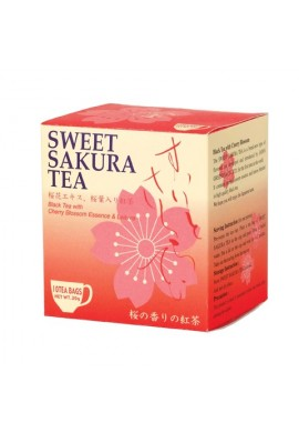 Azjatyckie herbaty Tea Boutique Sweet Sakura Tea Black Tea with Cherry Blossoms Essence & Leaves
