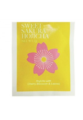 Azjatyckie herbaty Tea Boutique Sweet Sakura Tea Hojicha (Roasted Green Tea) with Cherry Blossom Essence & Leaves