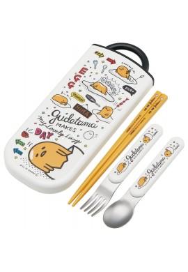 Gudetama Chopsticks, spoons and forks with case set