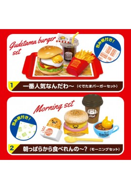 SANRIO Gudetama Miniature Figure Gudetama Burger Shop