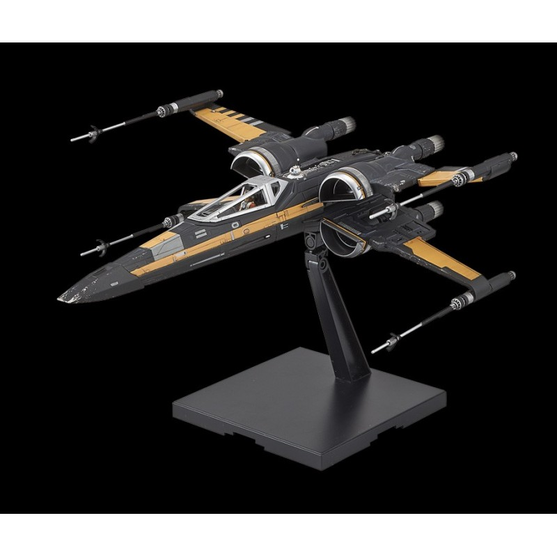 Poe S X Wing In Midi Scale: Bandai Star Wars Poe's Boosted X-Wing Fighter 1/72 Scale