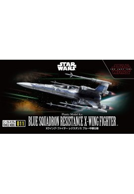 Bandai Star Wars Vehicle Model 011 Blue Squadron Resistance X-Wing Fighter
