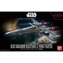 Bandai Star Wars Blue Squadron Resistance X-Wing Fighter 1/72 Scale Plastic Model Kit