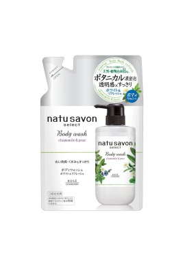 Kose Cosmeport Natu Savon Select Body Wash Refresh Chamomile & Pear