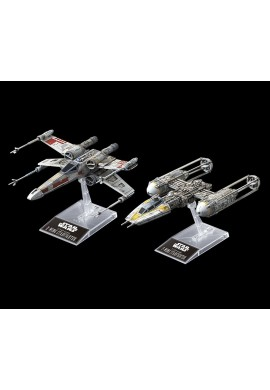Bandai Star Wars X-Wing Starfighter & Y-Wing Starfighter 1/144 Scale Plastic Model Kit
