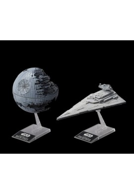 Bandai Star Wars Death Star II 1/2700000 Scale & Star Destroyer 1/14500 Scale Plastic Model Kit