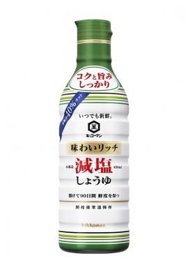 Kikkoman Anytime Fresh Taste Rich Reduced Salt Soy Sauce