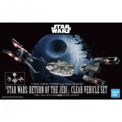 Bandai Star Wars Vehicle Model 017 Star Wars: Return of The Jedi Clear Vehicle Set 1/144 & 1/350 & 1/2700000
