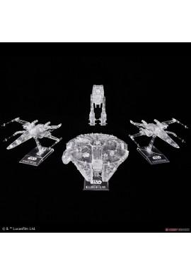 Bandai Star Wars Vehicle Model Star Wars: The Last Jedi Clear Vehicle Set