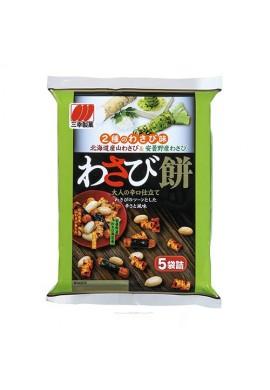 Azjatyckie przekąski Sanko Seika Wasabi Mochi Rice Crackers with Wasabi