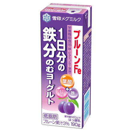 MEGMILK SNOW BRAND Prune Fe Daily Iron Yogurt Drink